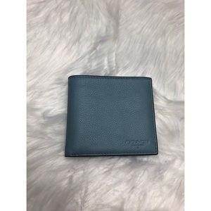 Coach Blue Bifold Wallet